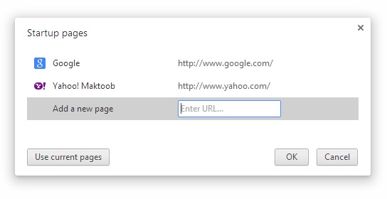 How to set home page in Google Chrome 2