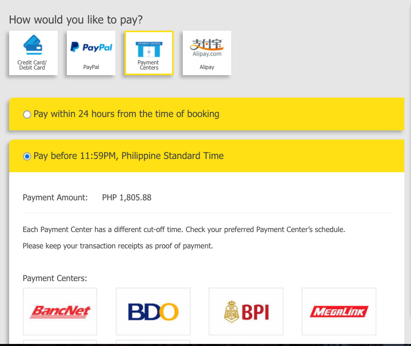 Book-Online-Cebu-Pacific-Payment Centers