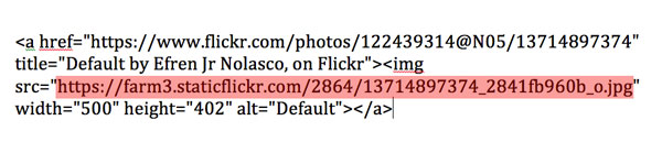 How to get direct image link in Flickr new interface Step 4