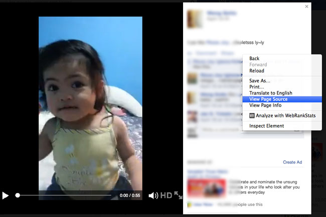 Download private Facebook video-step 1