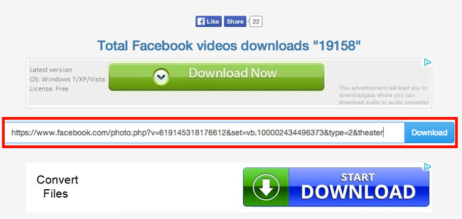 Download Facebook Videos - Step 3