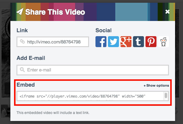 Get-embed-code-in-Vimeo-Step-2