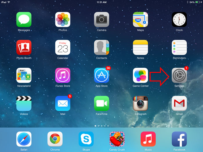 turn on or off auto correct on iPhone, iPad and other iOS device-Step-1