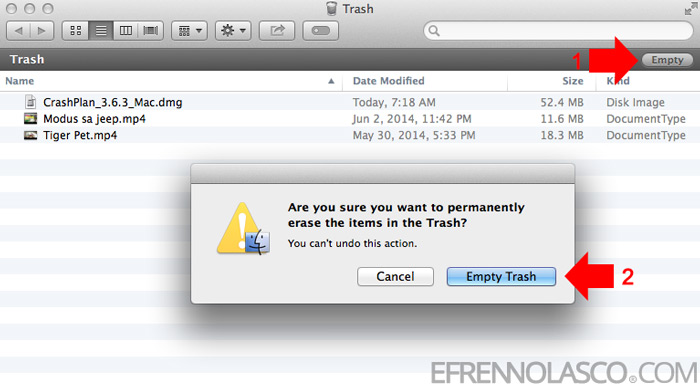 How to delete files on Mac step 4