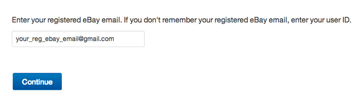 Change ebay password step 3