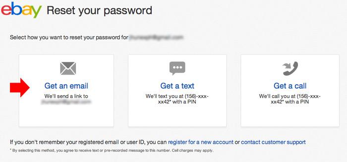 change ebay password step 4