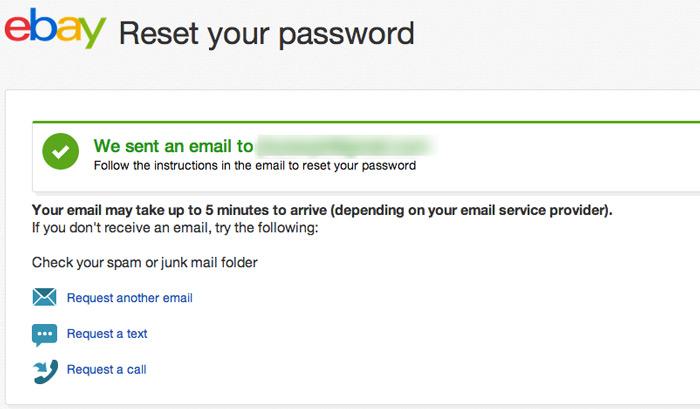 change ebay password step 5