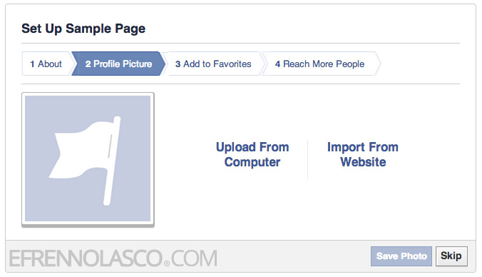 create facebook page step 5