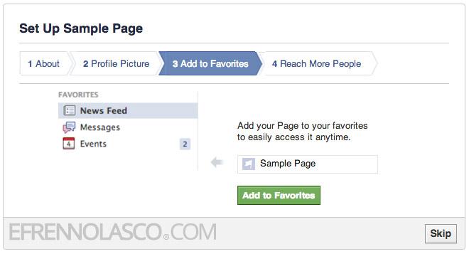 create facebook page step 6