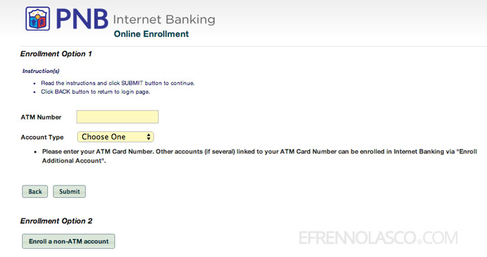 how to enroll to pnb net banking step 3