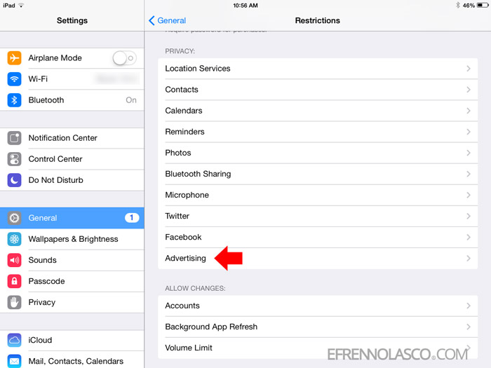 stop facebook from tracking you ios step 2