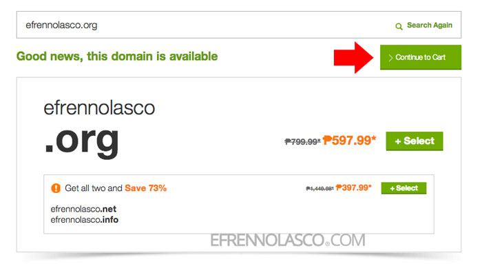 How to buy domain in godaddy step 2