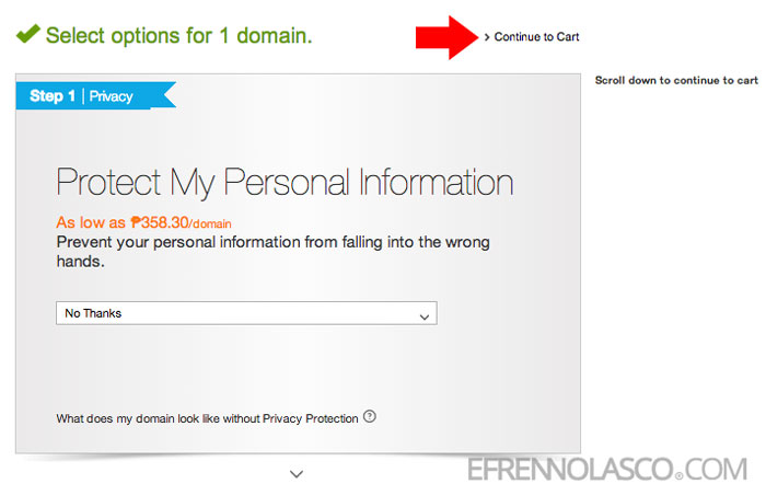 how to buy domain in godaddy step 3