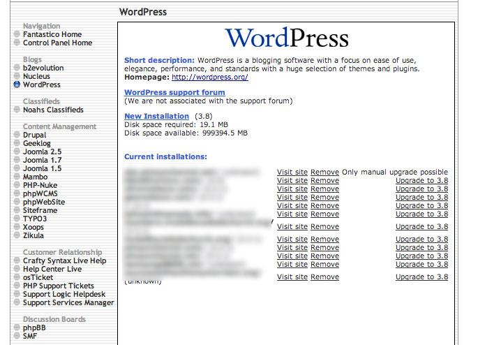 Install WordPress in Hostgator