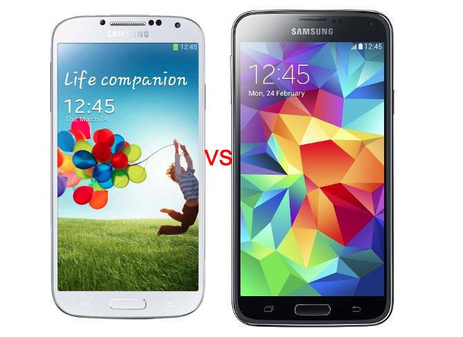 Samsung S4 VS S5