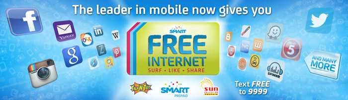 How to Avail Free Internet on Smart, Talk N Text and Sun Cellular