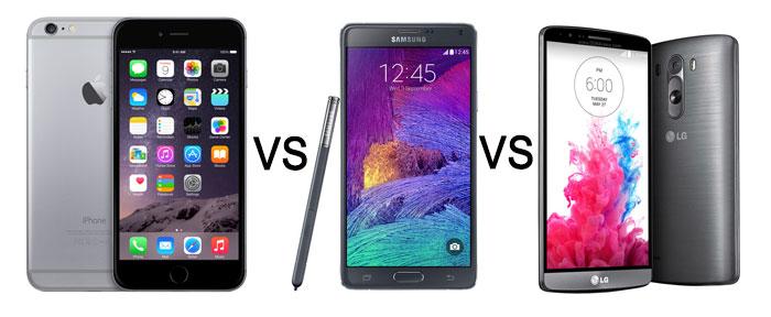iPhone-6-Plus-VS-Samsung-Galaxy-Note-4-VS-LG-G3