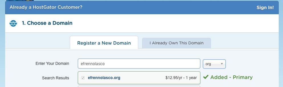 Hostgator-login-select-domain