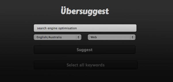 Ubersuggest keyword research tool