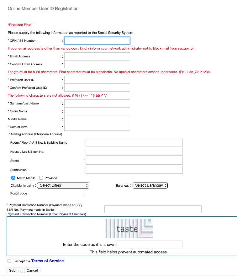 View-SSS-Contribution-Online-Step-4