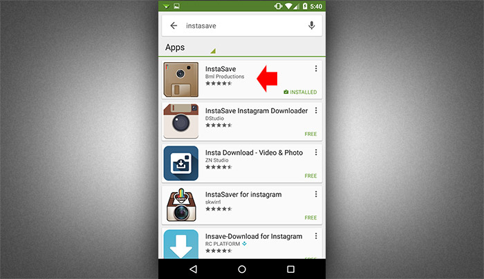 How to save instagram photos using instasave 1