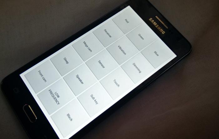 hidden Samsung test menu