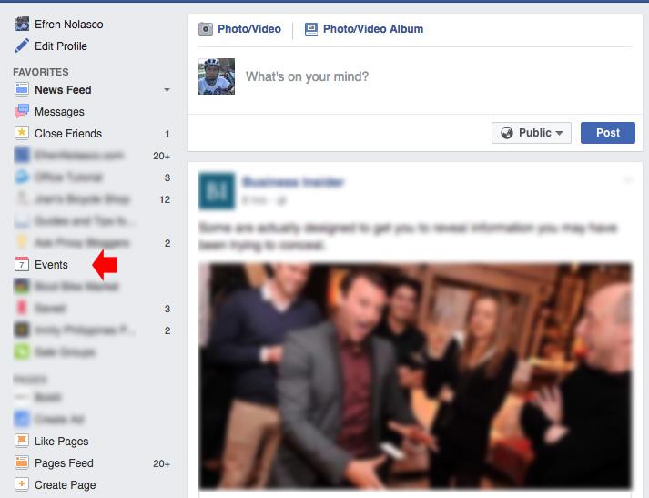 Creating Facebook Event