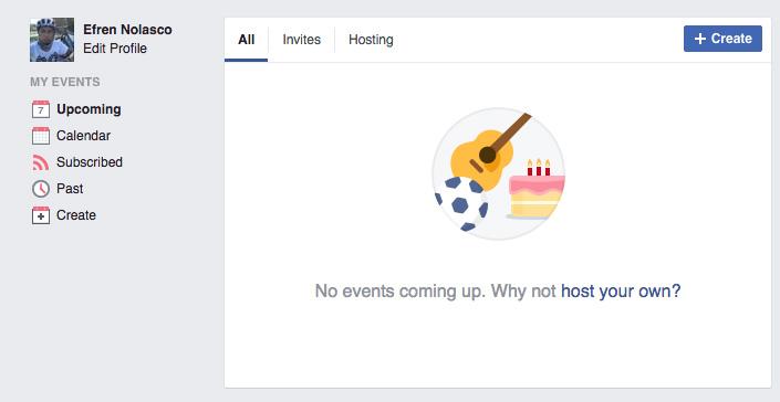 Creating Facebook Event 2
