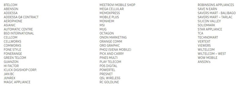 Huawei Samsung deals participating store