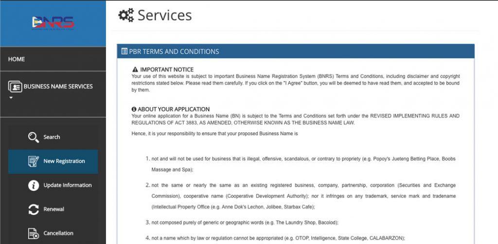 DTI-Online-Business-Registration