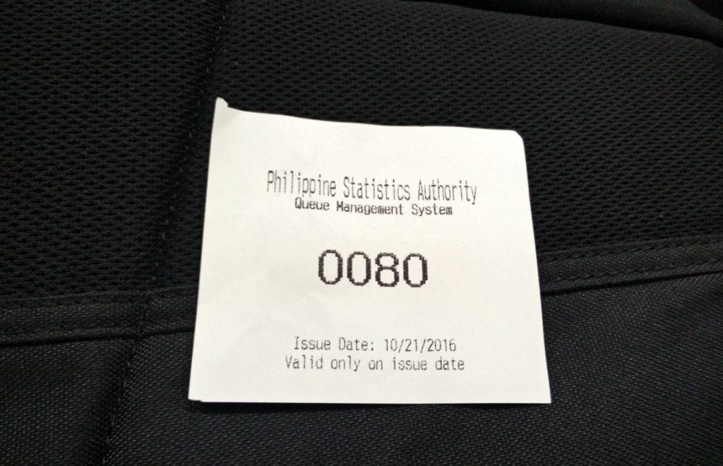 PSA queue number