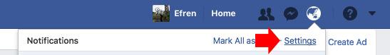 Facebook memories notification settings