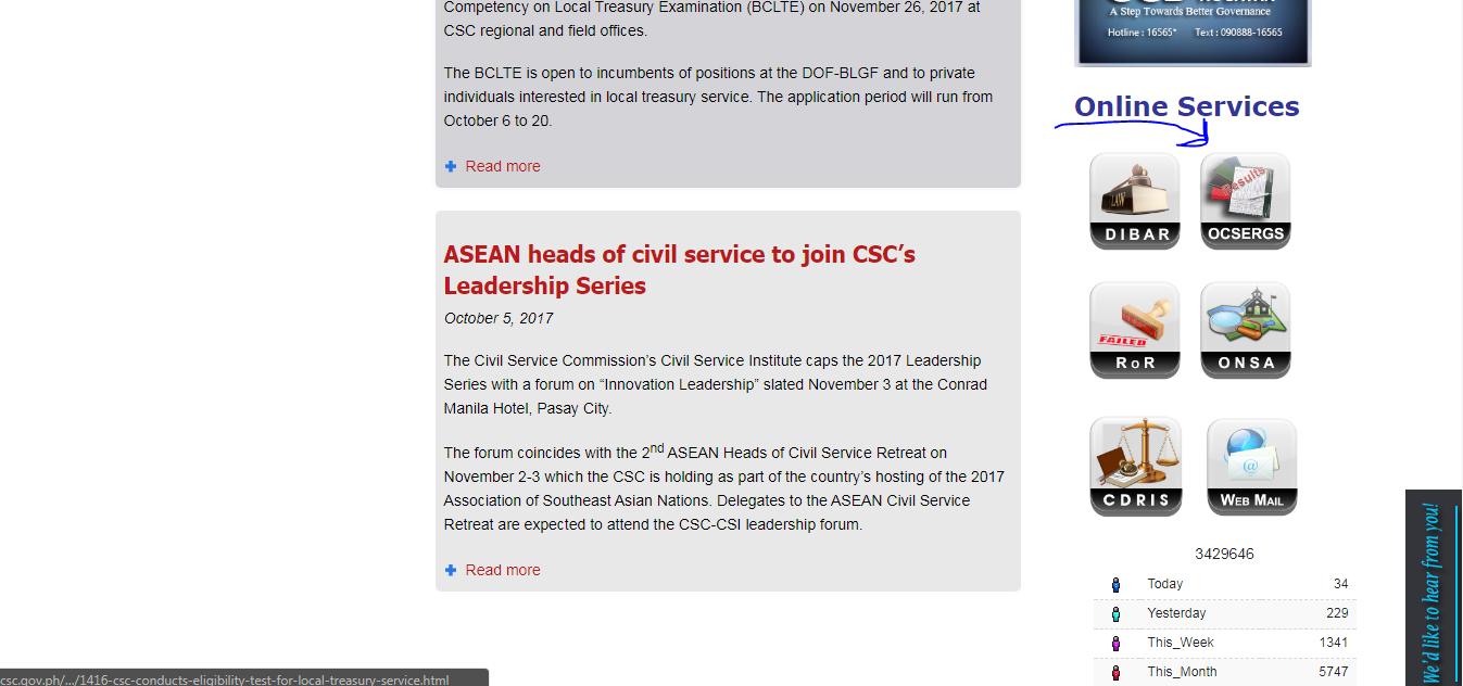 civil service result