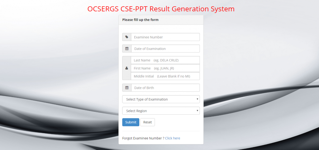 OCSERGS results