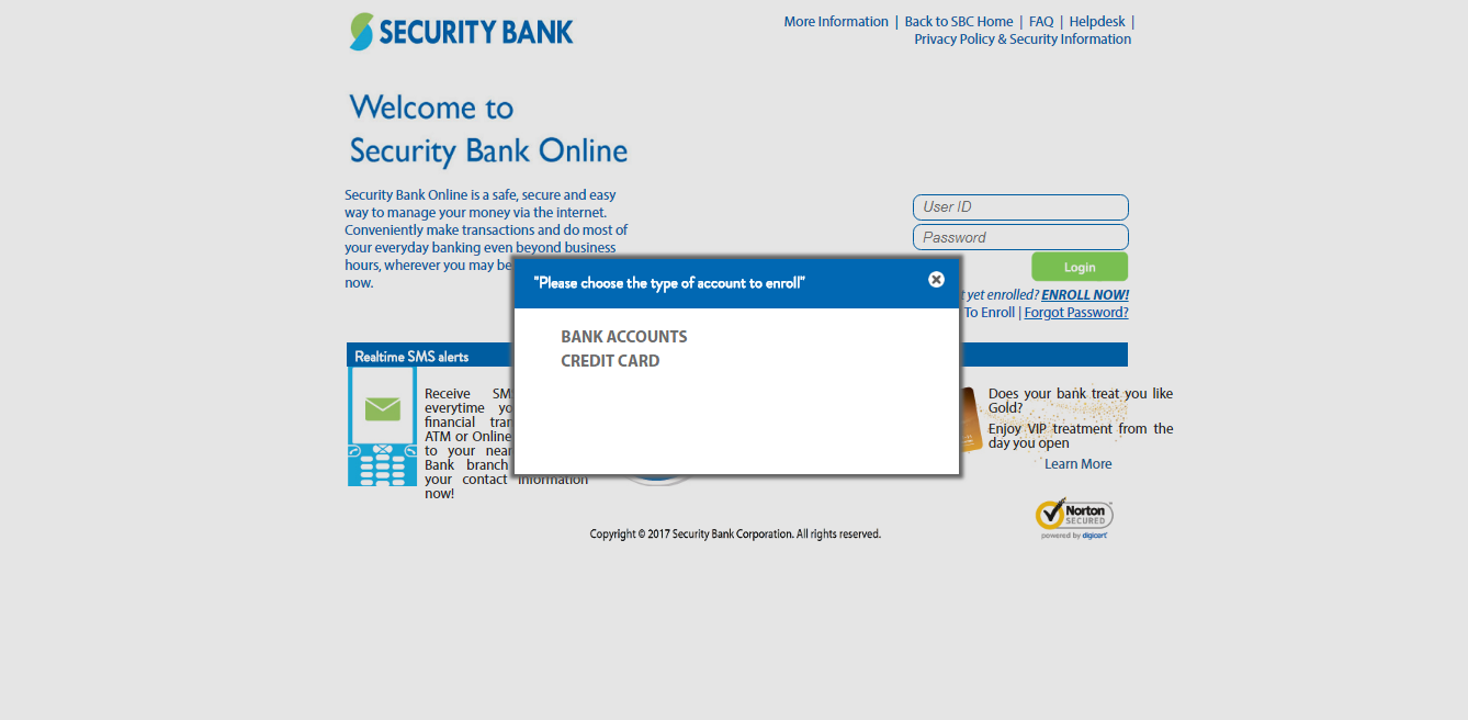 Security Bank Online Banking Options