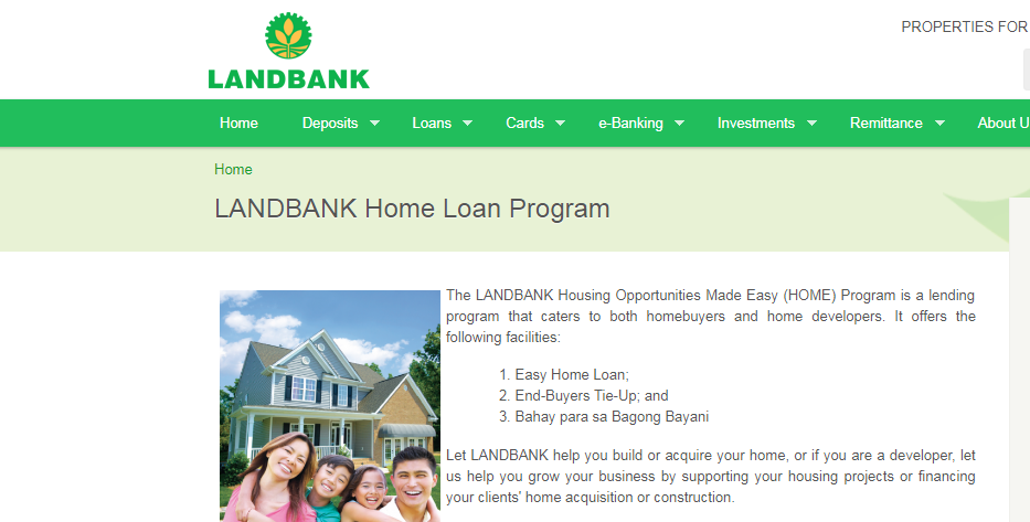 LandBank's Home Loan Program