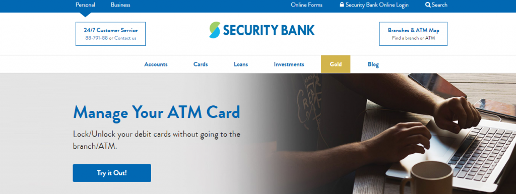 Manage Security Bank ATM