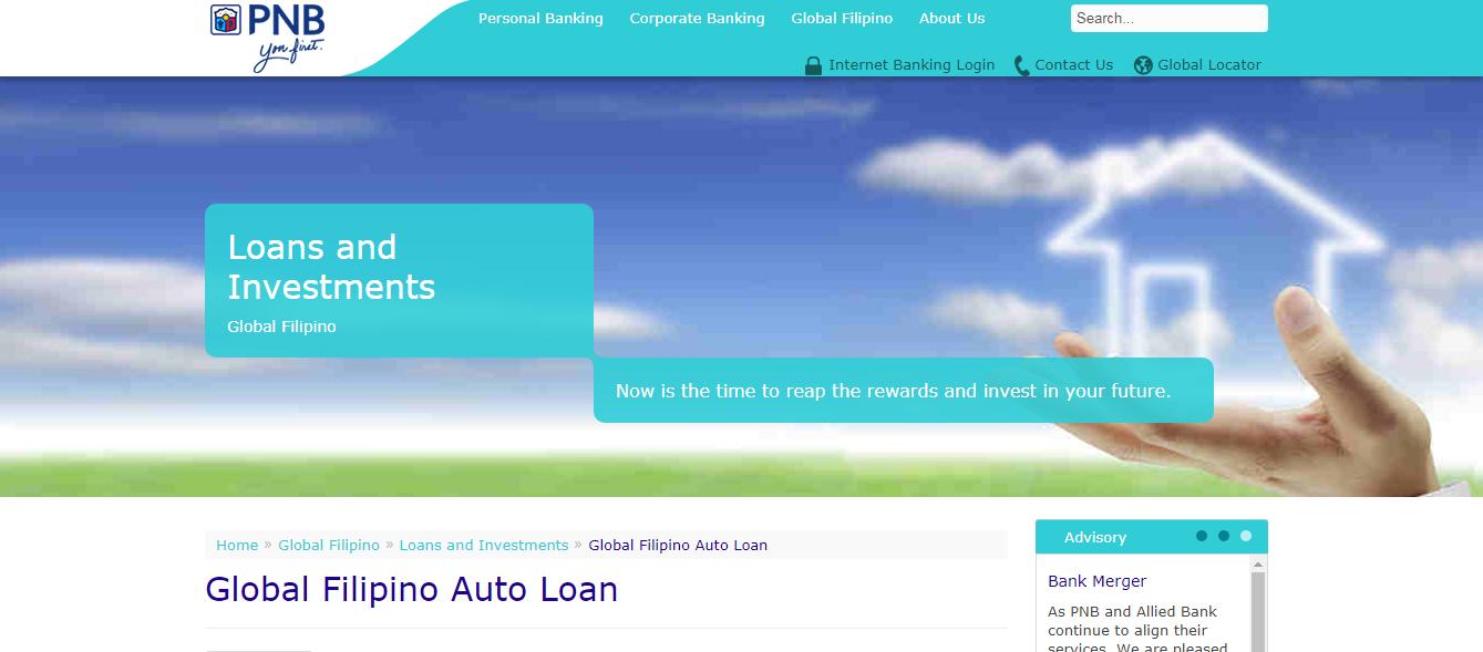 PNB OFW Auto Loan