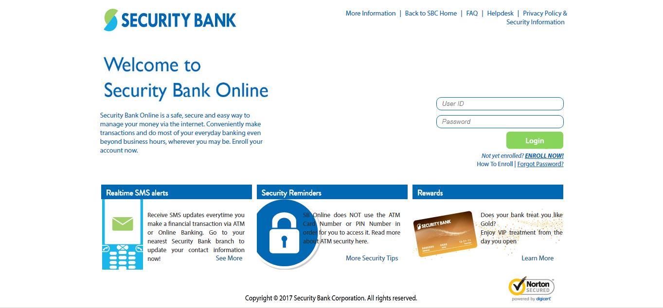 Security Bank Online Portal