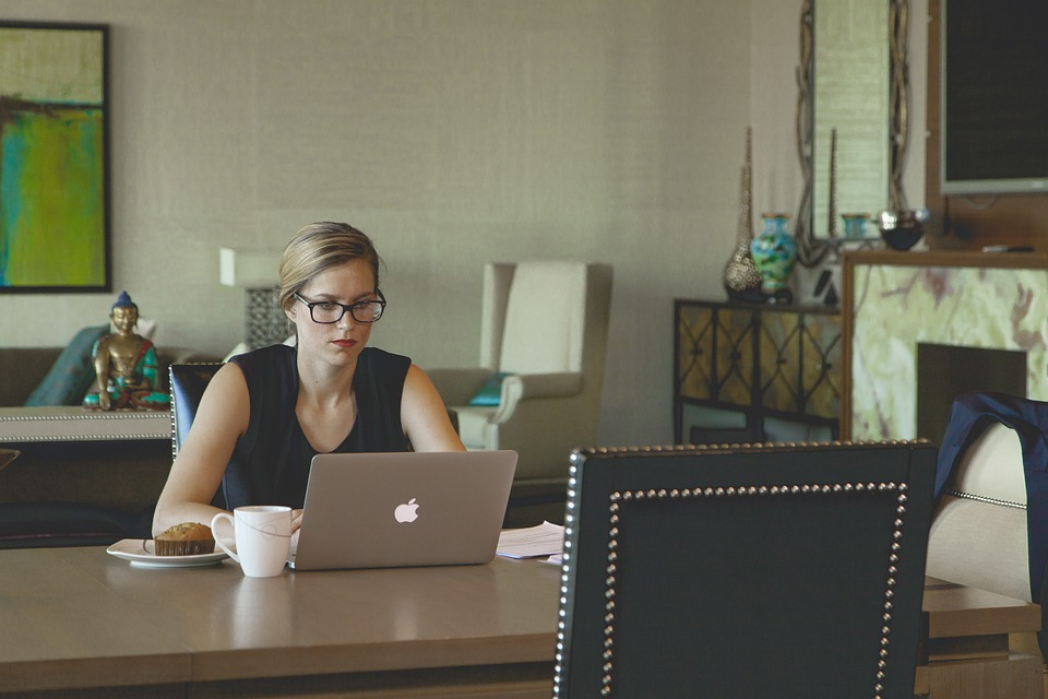 Woman Doing Work From Home