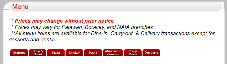 Shakey's online delivery