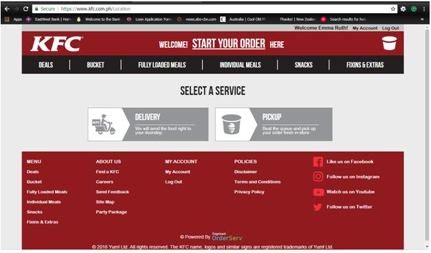 KFC Delivery Select Service