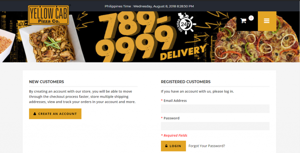 Yellow Cab Delivery Hotline