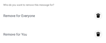 Remove message on messenger