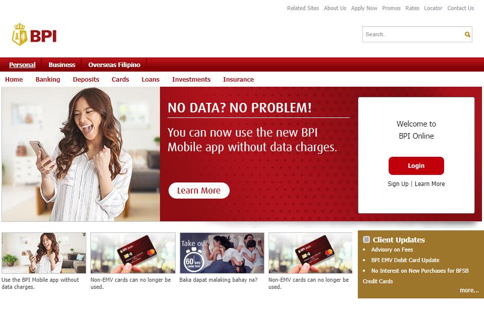 Enjoy the BPI online banking for free